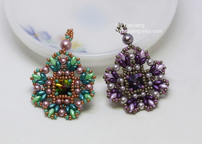 Beading Patterns, Alicia, Pendant Tutorials, Digital Download, PDF