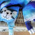 Hand Knitted Child's Blue Random Cat Scarf - FREE SHIPPING