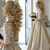 2019 Newest Champagne Wedding Dresses Sheer Neck Half Sleeves Appliques Lace