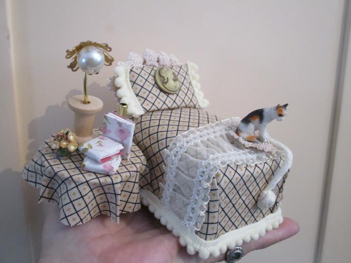 Miniature Bedroom Set - Handmade