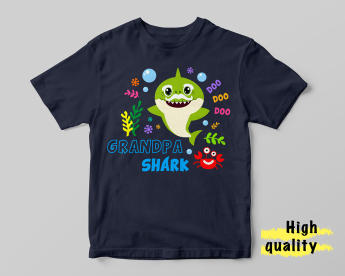 Baby Shark Grandpa  INSTANT DOWNLOAD (SVG, eps, dxf, ai, pdf, jpg, png, cutting