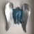 Abstract Metal Wall Angel art sculpture Torso home decor by Holly Lentz