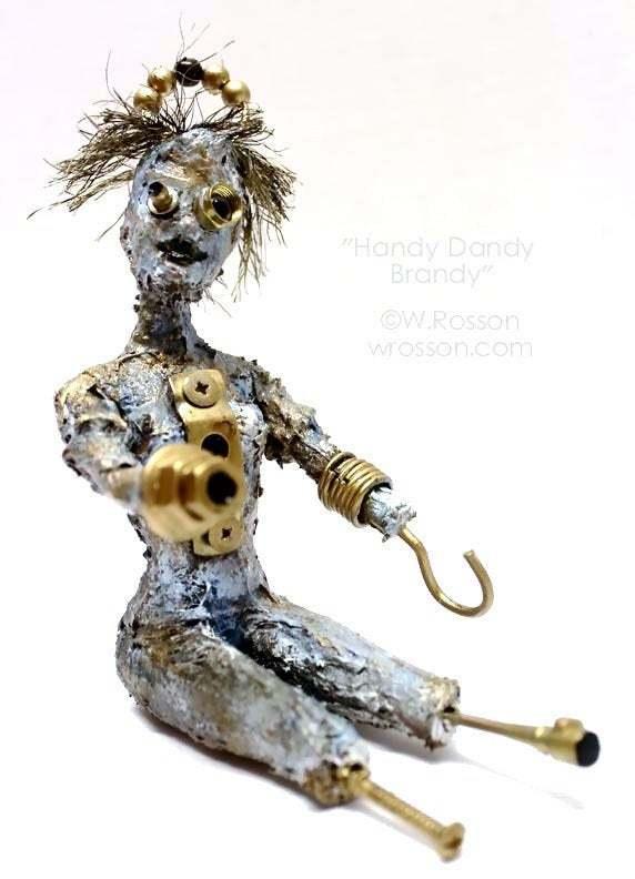 Handy Dandy Brandy, Fantasy, Sci fi, Art Doll, Robot, Humaniod, Original Doll,