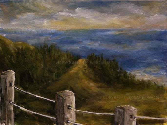 Gulf Shore, Beach Painting, Original Landscape, Original Art, Seascape, Travel,