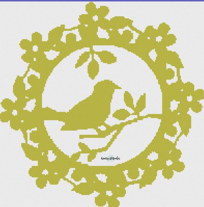 Olive Bird Template Crochet Blanket Pattern