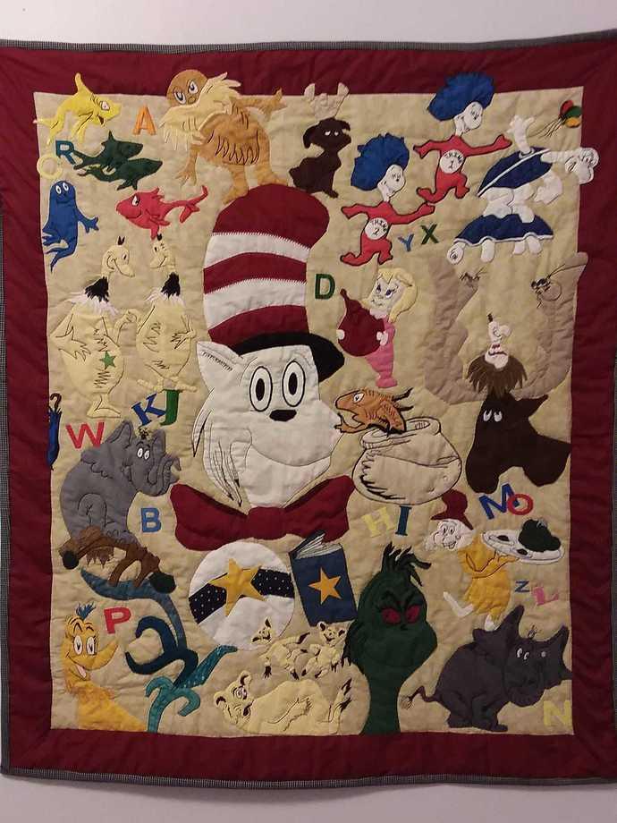 Dr. Seuss Crib Quilt/Wall hanging