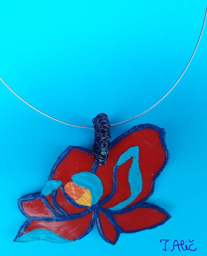 Handmade necklace (material for pendant: polymer clay - product 225/2019)