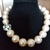 Pink pale pearls necklace, designer jewelry, fashion jewelry, necklace and
