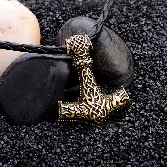 Viking Mjolnir Pendant, Thor's hummer, Mjolnir Necklace, Norse Mythology