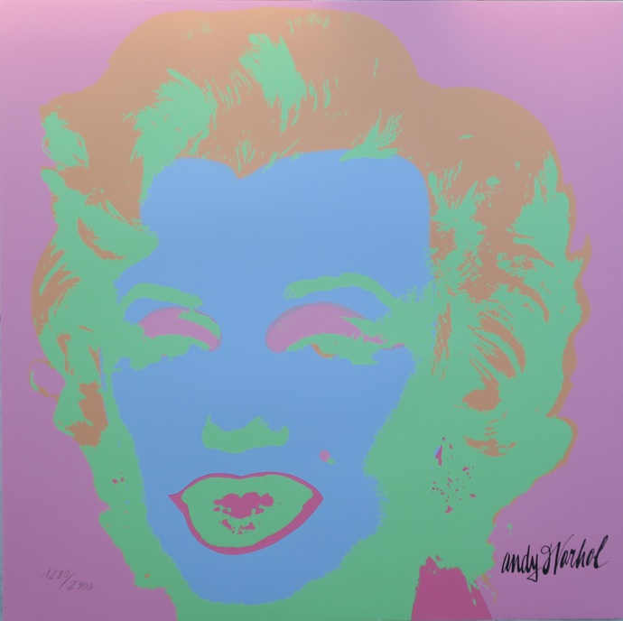 Andy Warhol Marilyn Monroe in candy colours signed limited edition SALE