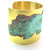Polished Brass & Patinated Copper Sea Swirl Cuff Bracelet