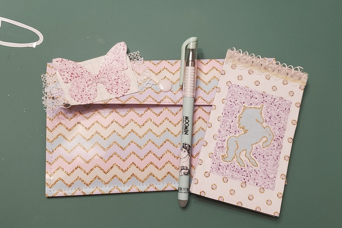 Laminated paper pouch set