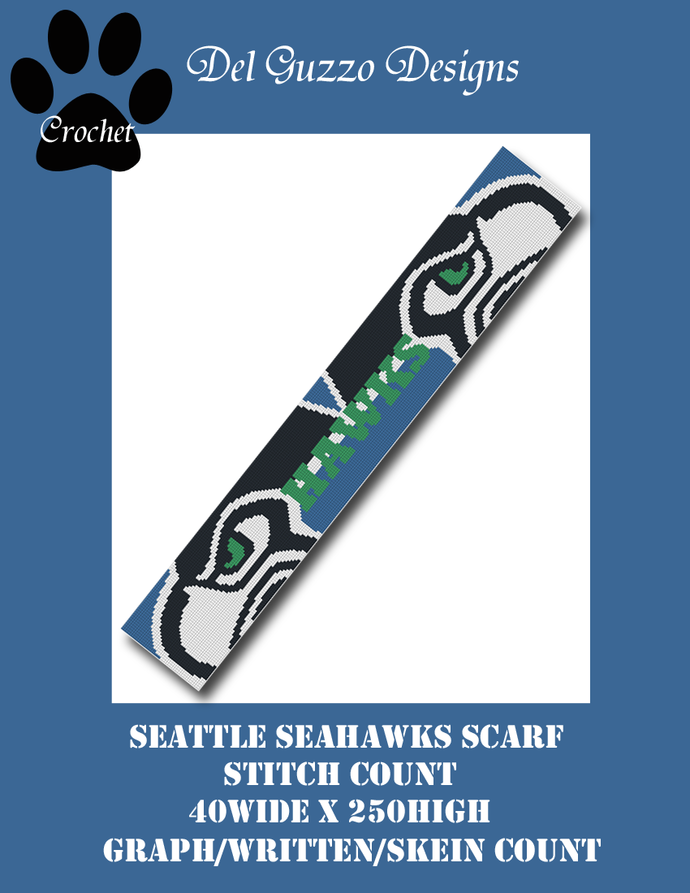 Seattle Seahawks Scarf 40x250