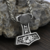 Mjolnir necklace, Thor's hummer axe bear head pendant, viking necklace, Mjolnir
