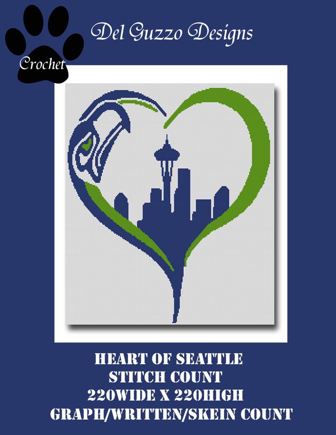 Seattle Seahawks Heart Graph 220x220