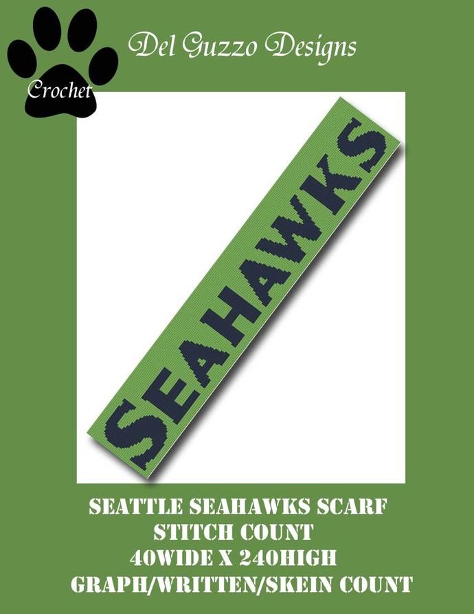 Seattle Seahawks Scarf 40x240
