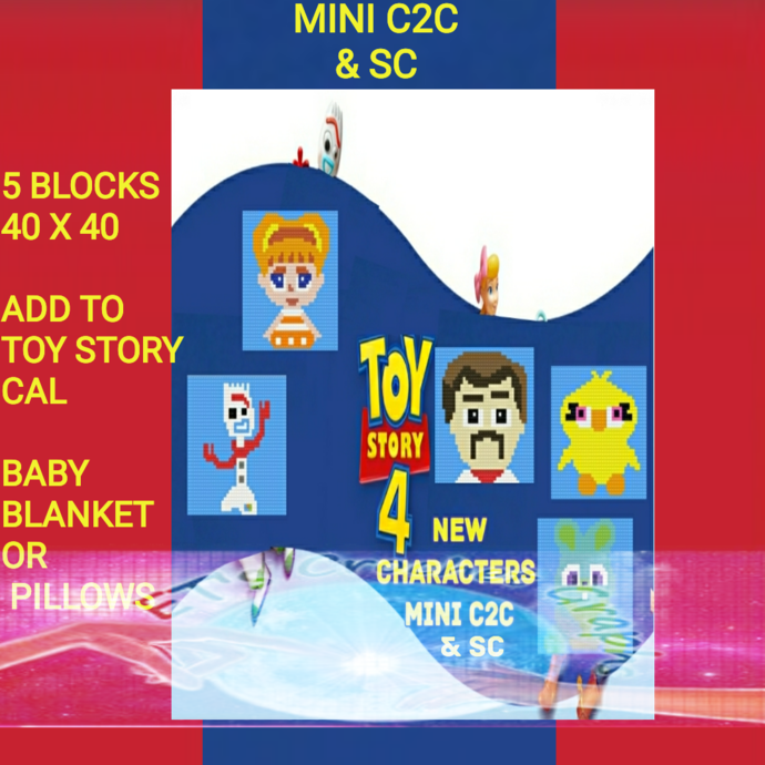 NEW Toy Story 4 additions BOTH SC & C2C include Graphs with Written Color