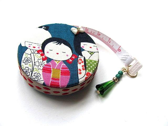 Measuring Tape Japanese Kokeshi Dolls Retractable  Pocket Tape Measure