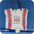 Baseball Mom Bag, Monogrammed Baseball Tote Bag, Personalized Baseball Gift,