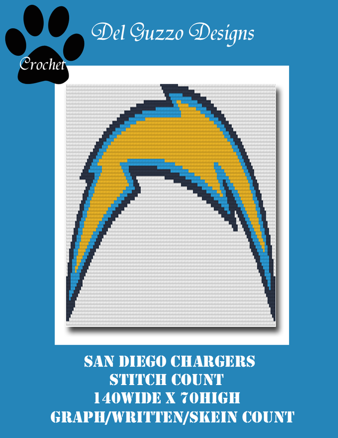 San Diego Chargers 140x70