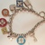 Louis Vuitton style jewelry, designer bracelet, chains and charms bracelets,