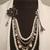 Designer inspired necklace, brand name inspired design, number 5,white pearls,