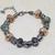 Murano Glass Bracelet, Venetian Glass Jewelry with Orange Lampwork Glass Beads