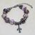 Murano Glass Bracelet, Venetian Glass Jewelry with Burgundy Lampwork Glass with