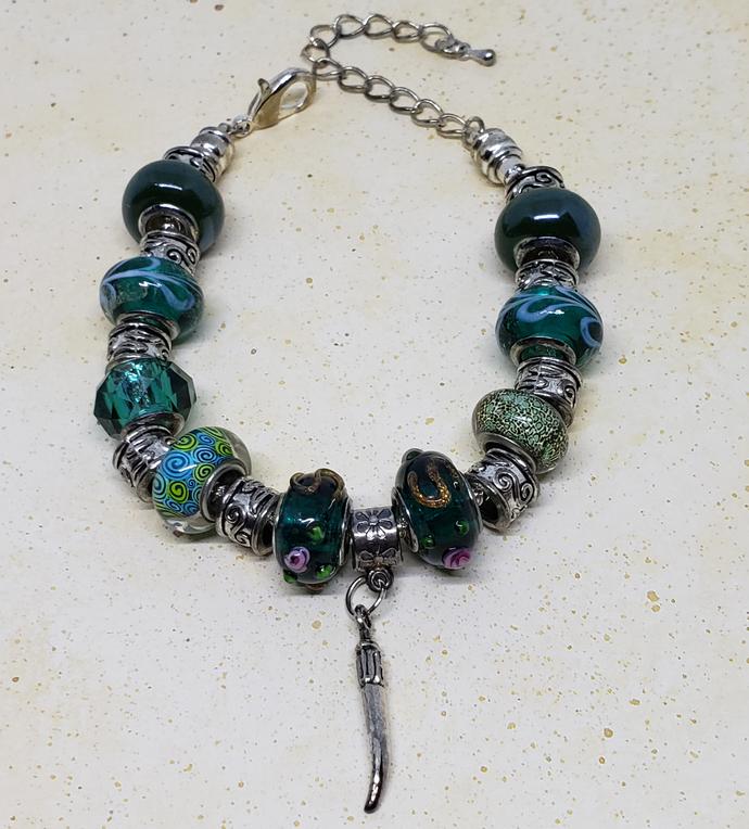 Murano Glass Charm Bracelet