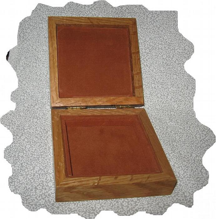 NEW Cross Stitch Stocking, Snow Flakes, Wood Memory Box