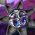 Stained glass moon face 7 pointed star iridescent black Suncatcher Christmas