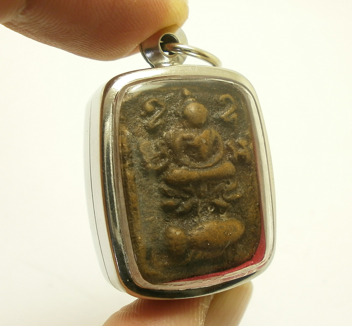 LP Parn Song PlaKut wat Bangnomkho temple Buddha on Thai Fighting Fish magic
