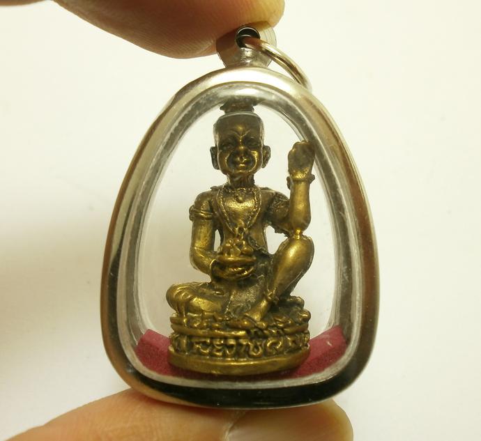 Guman Thong LP Pin kumantong pendant amulet bless baby spirit miracle boy