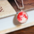 Glowing moon necklace, resin pendant, planet jewelry, science gift for her, gift