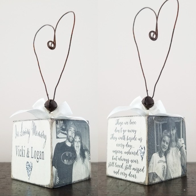 In Loving Memory of Ornament | Personalized Photo Ornament |Those We love Don't