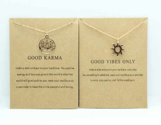 Good karma necklace, free necklace,good vibes, simple necklace,everyday