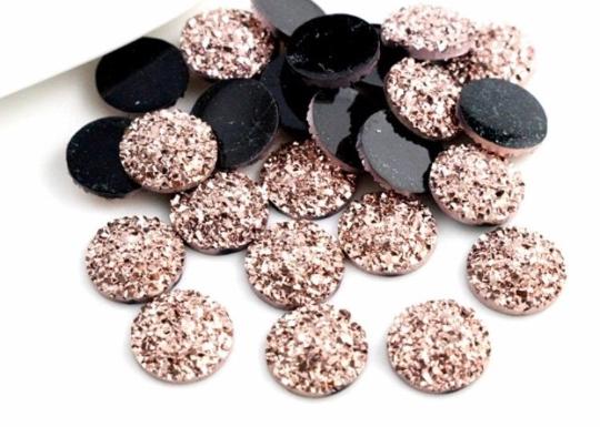 20 pcs Resin Cabochon, Resin glitter charms, epoxy resin DIY, craft jewelry DIY,