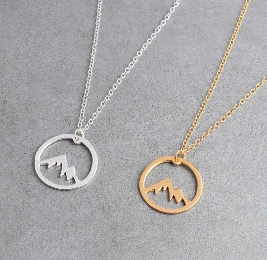 Mountains pendant , mountains necklace , mountains jewelry, charm