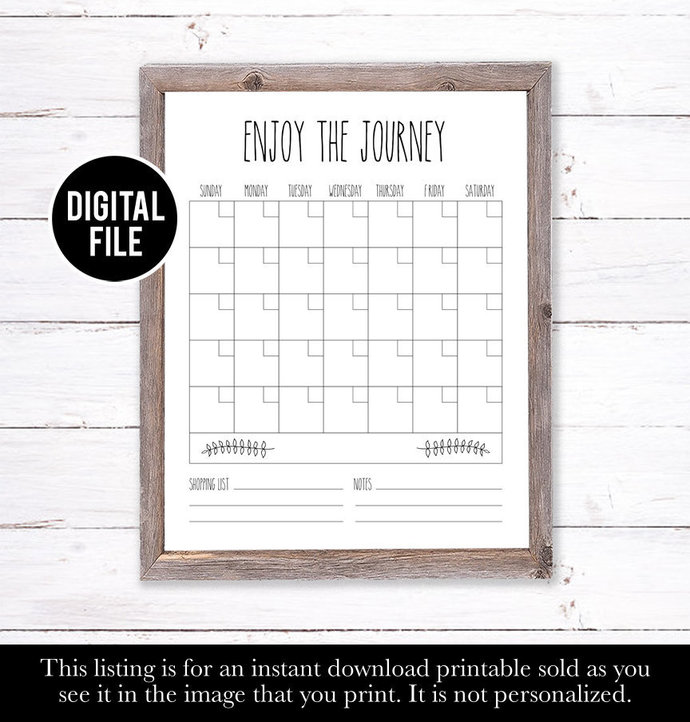 Farm House Decor, Family Wall Calendar, Rae Dunn Inspired Calendar, Dry Erase