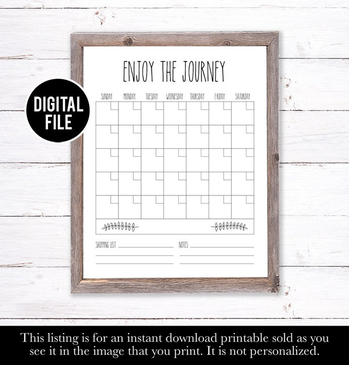 Farm House Decor, Family Wall Calendar, Rae Dunn Inspired Calendar, Dry Erase