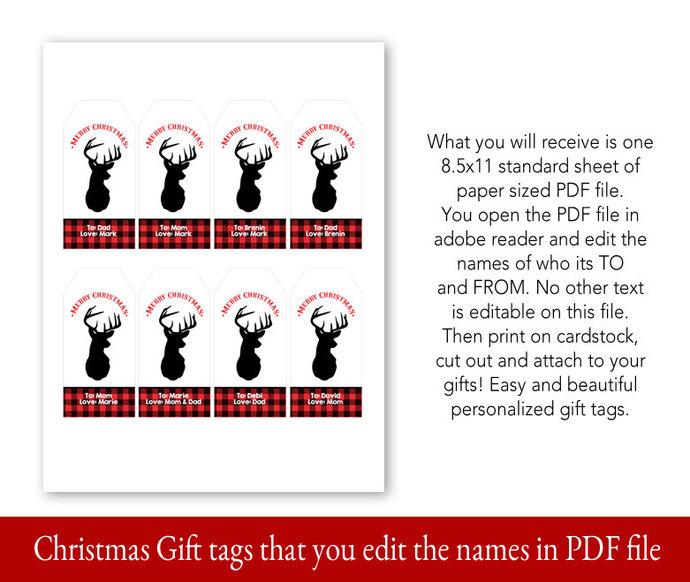 Christmas Gift Tag Printables, Christmas Gift Tags, Printable Gift Tags,