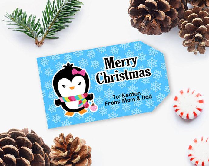 Christmas Gift Tag, Printable Christmas Gift Tag, Printable Tag, Editable