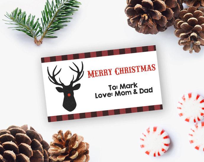 EDITABLE Christmas gift tags, Christmas Gift Tag printables, Christmas Gift