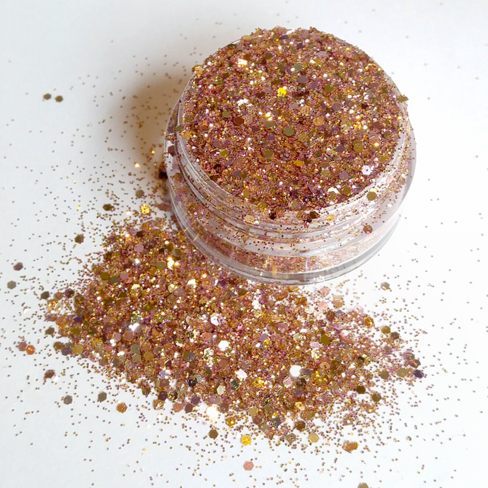 Rose Gold Reflections - Metallic Chunky Loose Glitter Mix