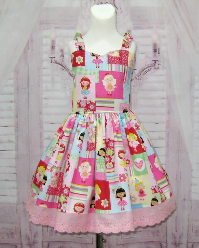 Fairy Dress, Fairy Girl Dress, Pink Girl Dress, Pink Lace Dress, Flower Girl