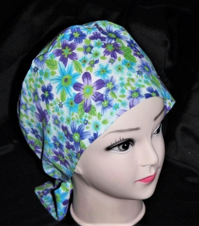 Nurses Women Surgical Scrubs Scrub Caps Ladies Pixie Cap Hat Surgery Hats