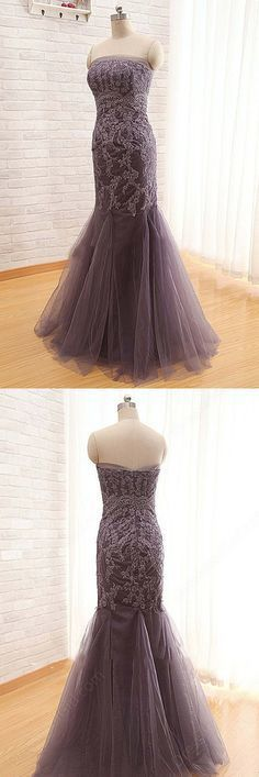 Tulle Lace Sweetheart Long Mermaid Dresses,long Dresses For Prom