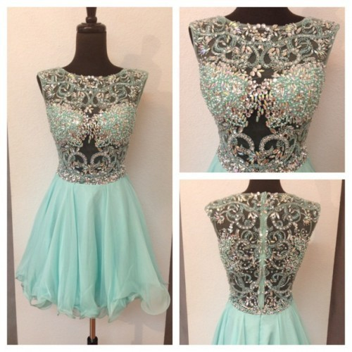 Elegant Green Homecoming Dress,  Tulle Prom Dress, Graduation Formal Gown