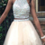 Two Piece Homecoming Dress,  Tulle Homecoming Dresses, Crystal Graduation Dress