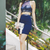 Sexy Two Piece Evening Dress, Navy Blue Short Party Dress
